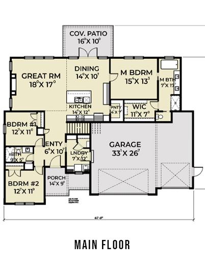 Farmhouse 823 Main Floor Plan