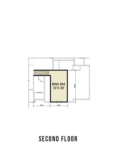 Farmhouse 823 Bonus Room Floor Plan