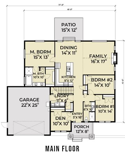 Northwest 607 Main Floor Plan