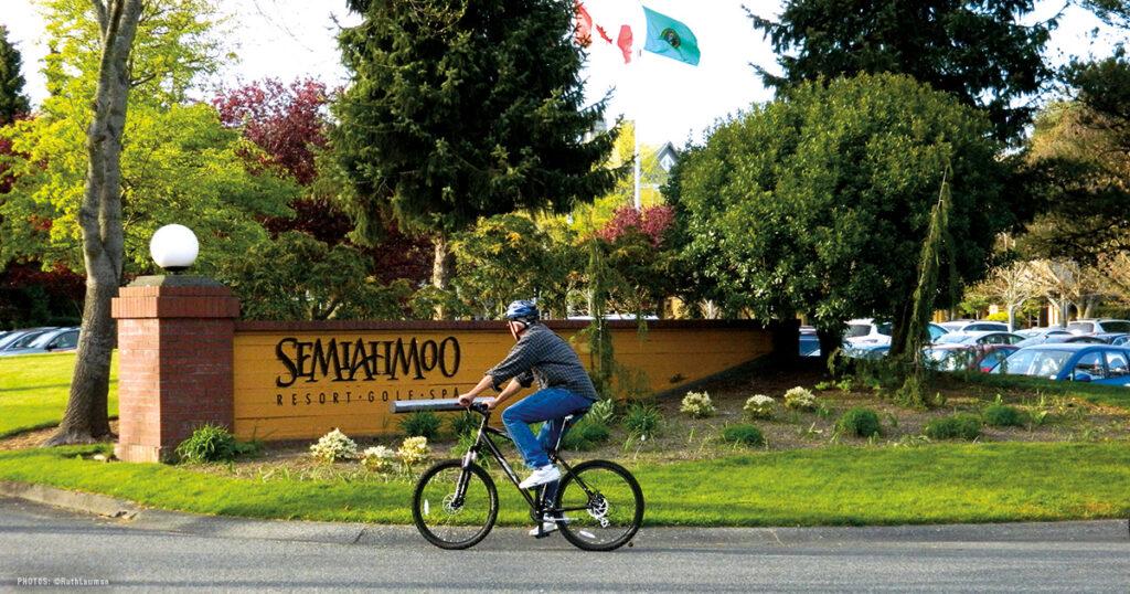 Bike Riding Semiahmoo Spit Blaine WA