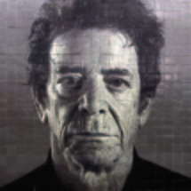 "Chuck Close artwork, ""Subway Portraits"" series. Image by Metropolitan Transportation Authority of the State of New York,"