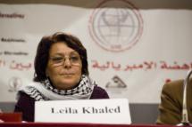 Leila Khaled. Image by Sebastian Baryli, Wikimedia Commons.