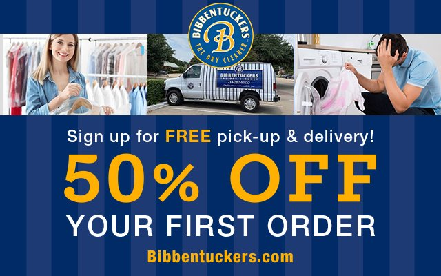 Bibbentuckers 50 off - Pickup and Delivery