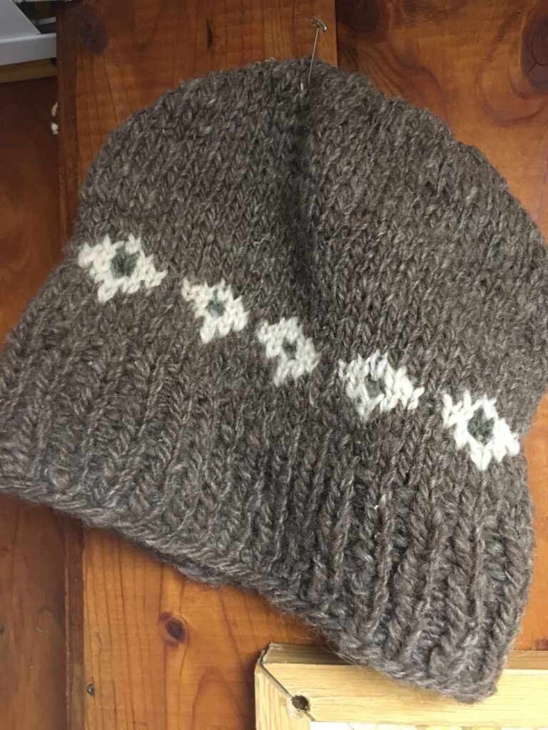 Handspun knitted hat