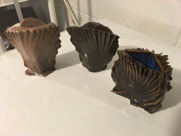 Wedge ceramic vases