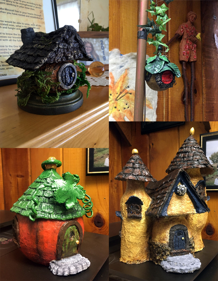 Paper clay fairy houses