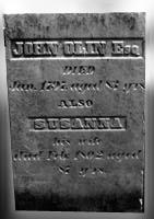 John Olin II and Susanna Pierce headstone