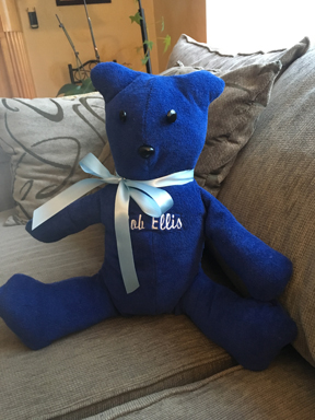 Teddy bear made with my father's robe