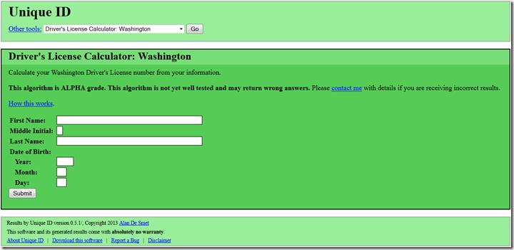 Drivers License Calculator: Washington State