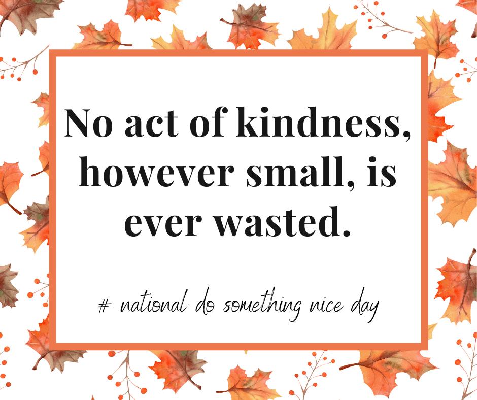 National Do Something Nice Day