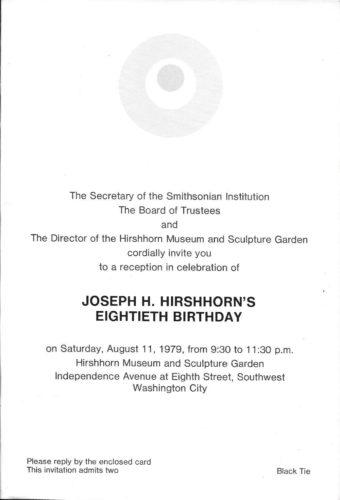 JHH 80TH BIRTHDAY INVITATION