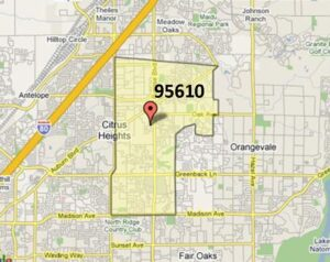 Citrus Heights 95610 (east)