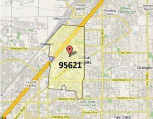 Citrus Heights 95621 (west)