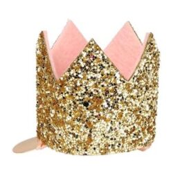 Hair Clip Mini Gold Glitter Crown