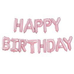 Guirnalda de Globos Happy Birthday Pink Matte