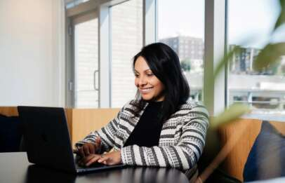women working on laptop