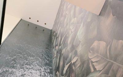 Custom Mural Waterfall
