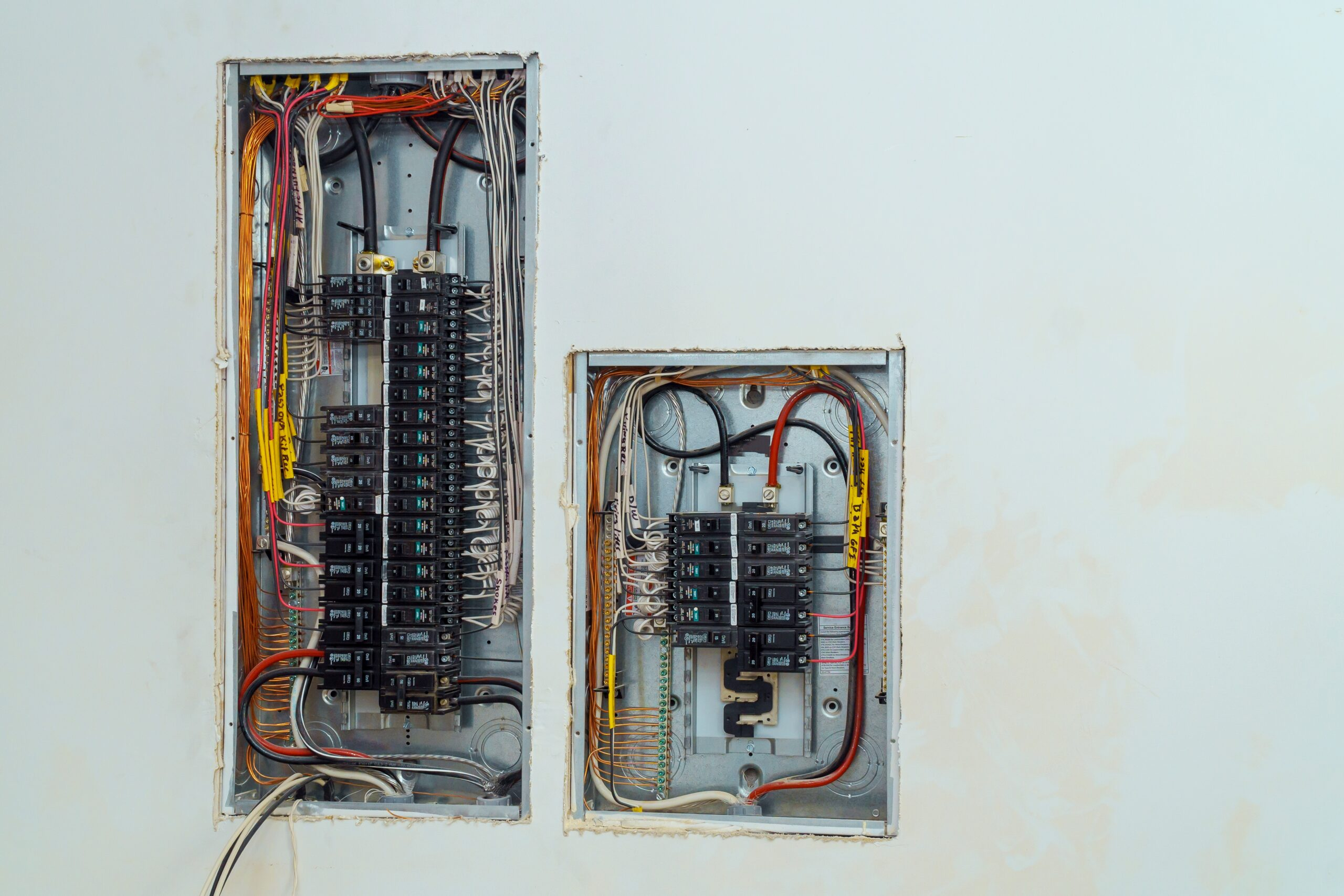 Voltage switchboard with circuit breakers electrical