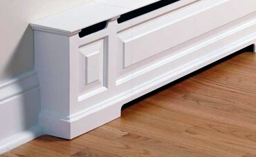 Baseboard heater of a home