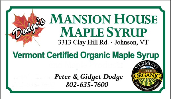 vermont certified organic maple syrup