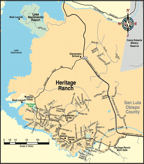 Map of Heritage Ranch