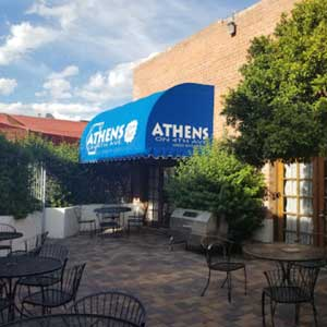 Image of outdoor dining area at Athens On 4th Ave Fine Greek Restaurant