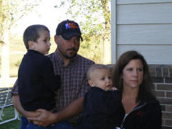 Scott & Stacy Liebhart & Boys (Landon was really upset he couldn't continue on the tour)