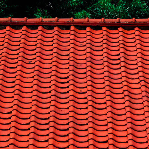 House with tile roof