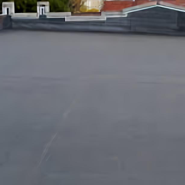 Building with EPDM roof
