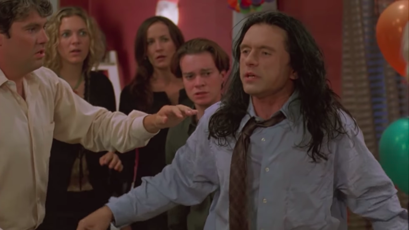 """Tommy Wiseau's Not-So-Golden """"American Voice"""" in <em>The Room</em>"""
