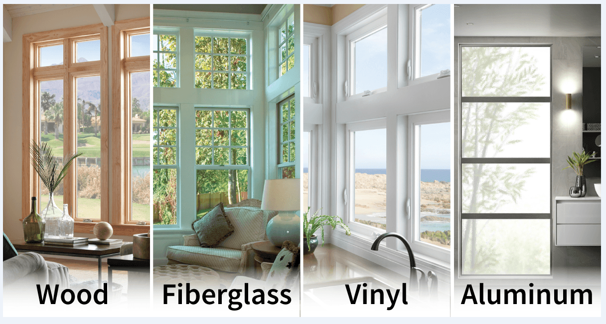 window frame material choices