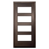 wood with glass entry door
