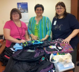 August Backpack Drop-off at the Salvation Army Community Center
