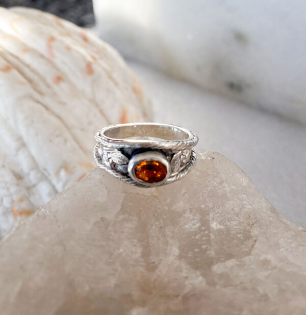 Andesine Silver Decorative Ring