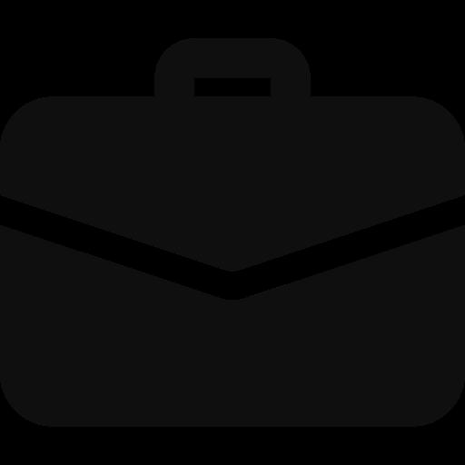 Icône d'une valise d'entreprise