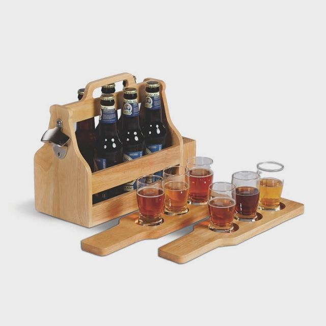 Rustic wooden crates manufactured to match your brands unique identity.  Contact us to build your own! #custom #custommanufacturing #promotional #craftbeer #beerpromo #promotionalproducts #beer #wood #beerflight #beercrate