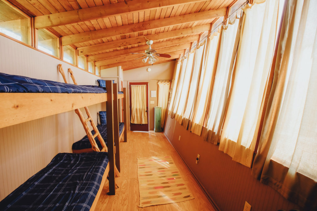 Two sets of bunk beds