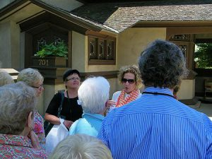 WIK tour guide and attendees