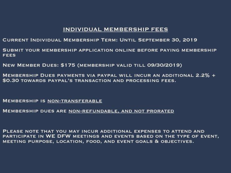 Membership Fees & Term