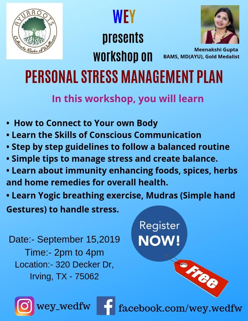 Personal Stress Management Plan with Meenakshi Gupta