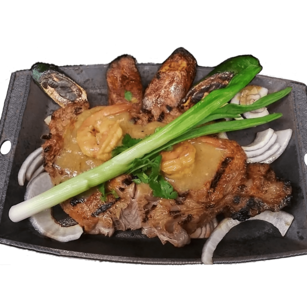 Ribeye Steak and Shrimps