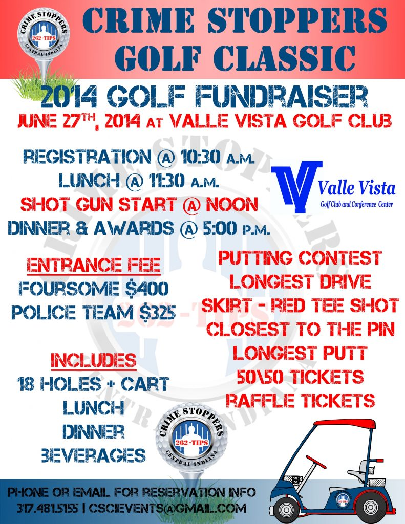 Help Us Support Crime Stoppers - let's play golf and raise needed funds!