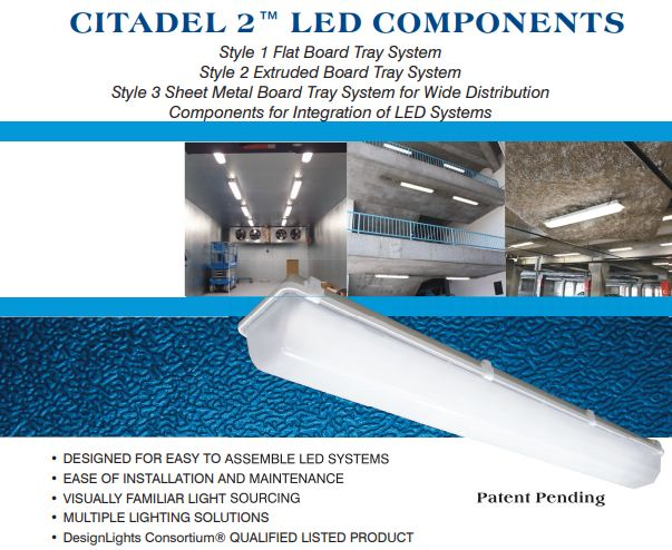 CITADEL 2™ – LED Vapor Tight and Wet Area Lights