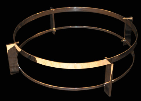 Chrome Concentric Coffee Table Base cw