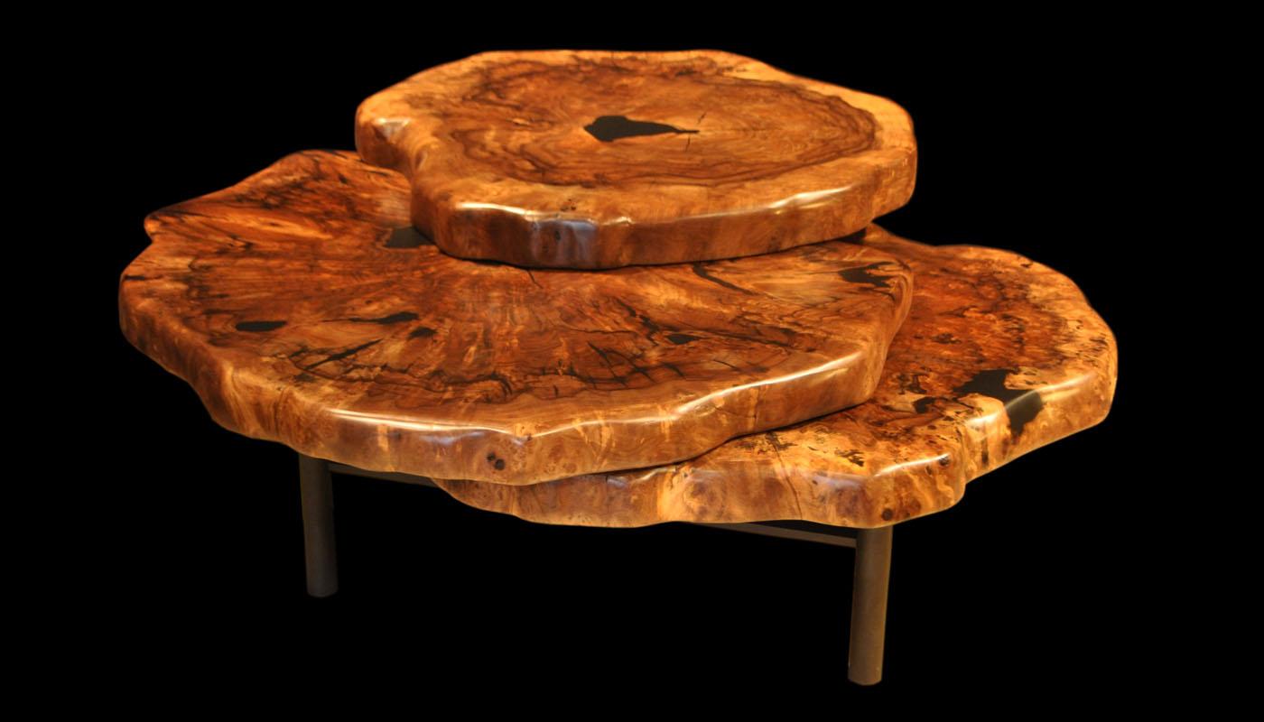 Claro-walnut Clover Coffee Table