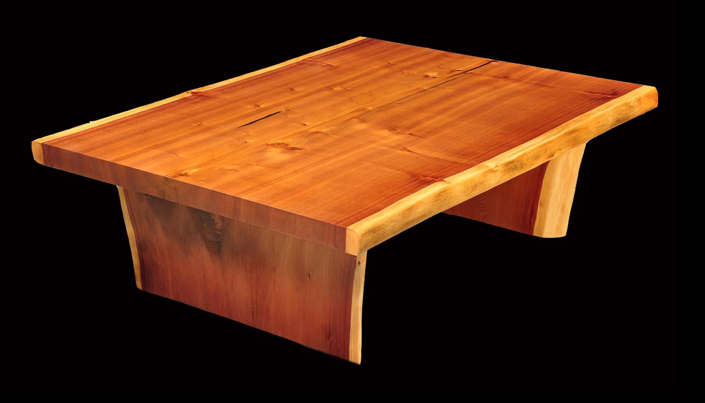 Large Coastal Redwood Coffee Slab Table