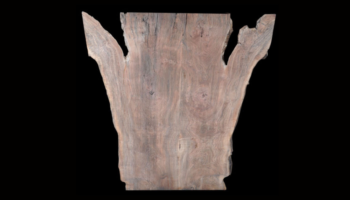Monster Live-edge Book-matched Claro-walnut Slab Table