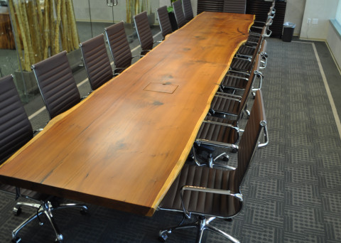 Reclaimed Old Growth 1st Generation Coastal Redwood Slab Table