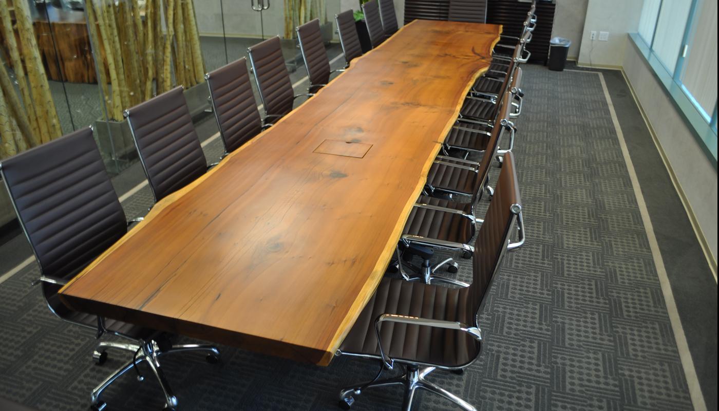 Reclaimed Old Growth 1st Generation Coastal Redwood Slab Table