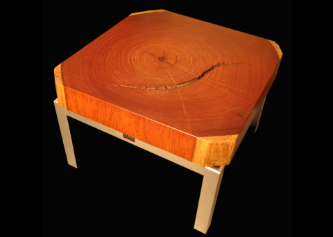 Rosewood Cross-section Square Table